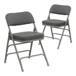 Black Padded Folding Chairs One And A Half Chair Uk Flash Furniture Hercules Set Of 2 Bed Bath
