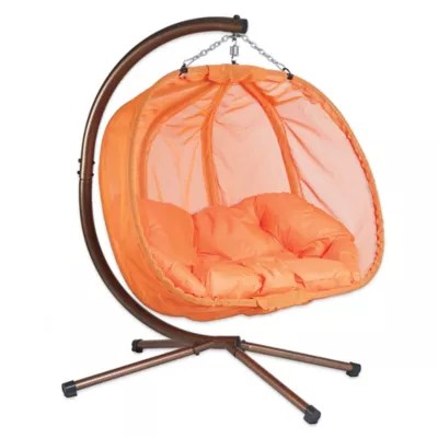 egg chair swing with stand white leather rocker hanging bed bath beyond loveseat
