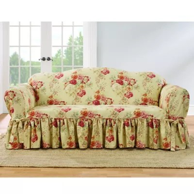 sofa covers toronto canada standard length loveseat bed bath and beyond sure fit ballad bouquet by waverly slipcover collection