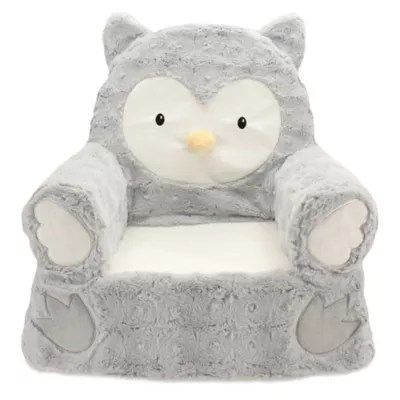 toddler saucer chair canada covers for recliners uk baby kids furniture sets step stools and more sweet seats plush owl in grey