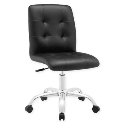 desk chair bed bath and beyond wicker swivel uk modway prim armless mid back office