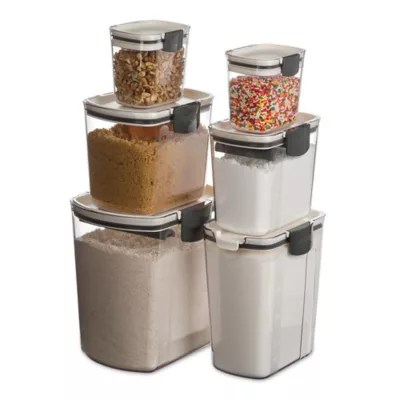 canisters kitchen hardware on cabinets bed bath and beyond canada progressive prokeeper 6 piece set