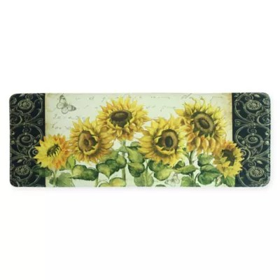 lemon kitchen rug pictures of bed bath beyond bacova 20 inch x 55 sunflower mat