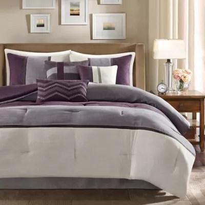 purple comforter set bed bath beyond