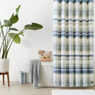 ugg avery plush 72 inch x 72 inch shower curtain in blue crush bed bath beyond