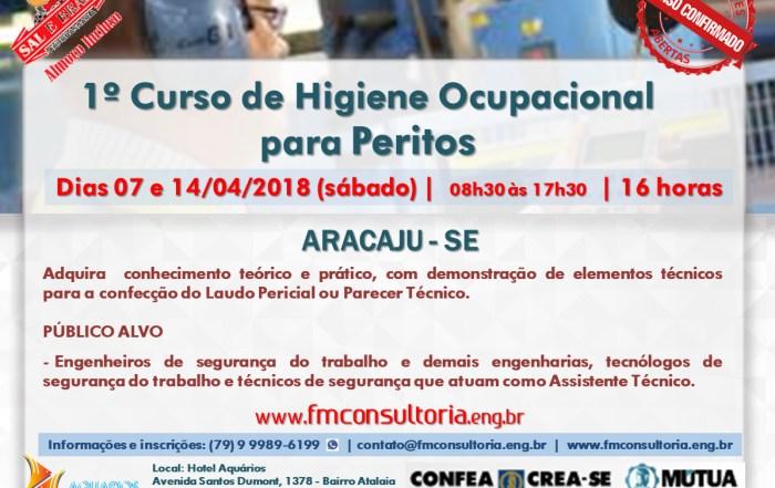 Curso de Higiene Ocupacional para Peritos Aracaju-SE1