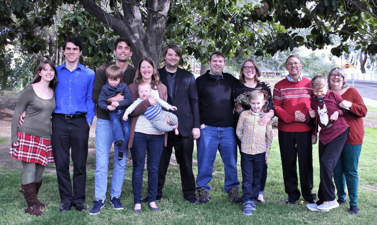 Family at Christmas 2019