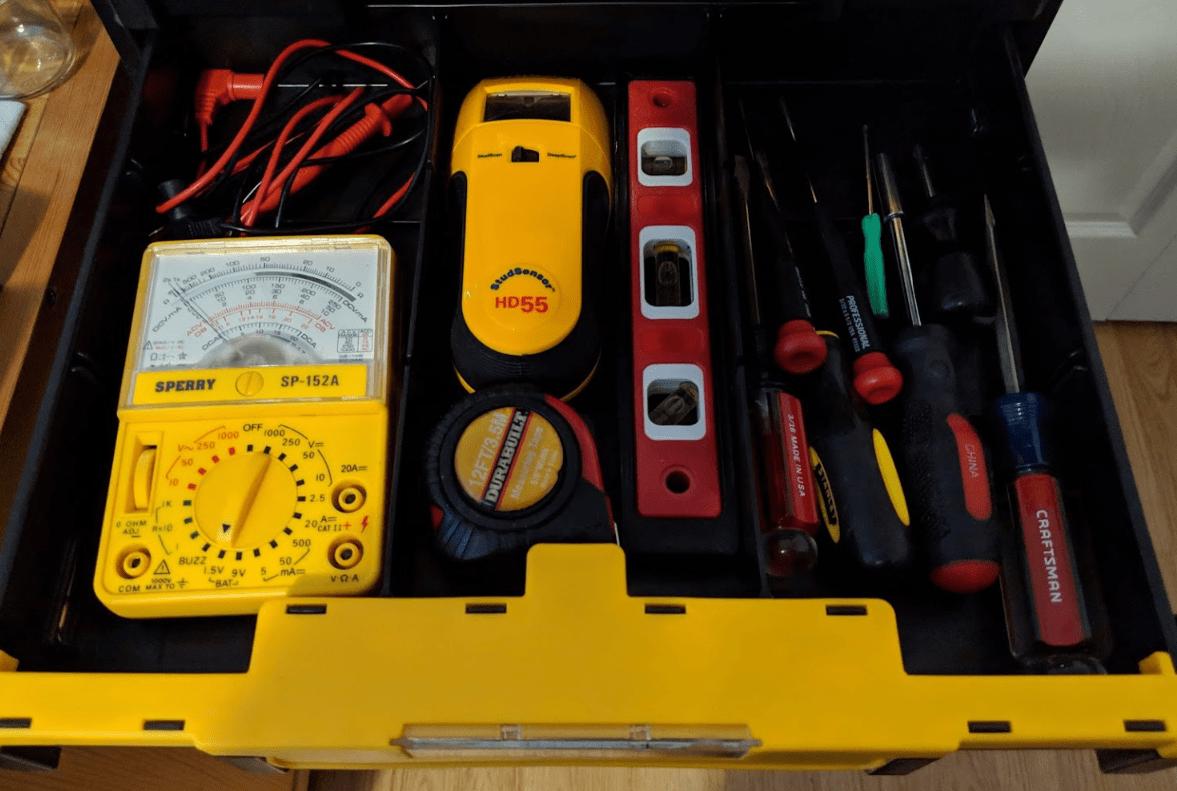 DeWalt TSTAK drawer organization