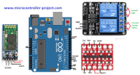 Arduino garage door opener using mobile app, Bluetooth and ...