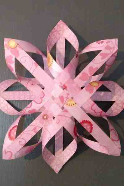 Pink Paper Star