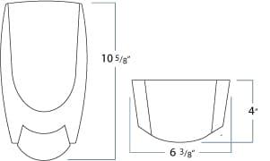 1000 mL Eco-Flex Manual Soap and Sanitizer Dispenser