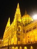 Parliament buildings up close, Budapest.