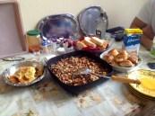 A Serbian feast for breakfast and compulsory rakia.