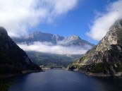The man-made Pivsko Jezero lake.