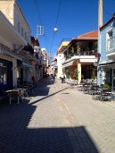 Mitikas, the first Greek town we saw with any old buildings.