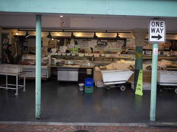 City Fish is located in the original Eba location, 1533 Pike Place (Photo by author, larger on Flickr)