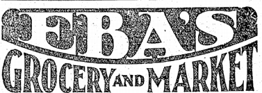 "1927 logo for Eba's Grocery and Markets. ""Cut Rate"" has been dropped from the name. (Oct 21 1927 Seattle Times)"