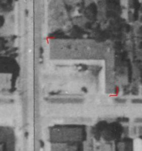 Roosevelt Drive-In Market as seen in 1936 Aerial images from King County iMap, parcel 3658700555