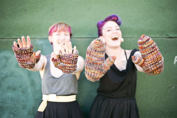 Malabrigo Rasta Mittens and Fingerless gloves