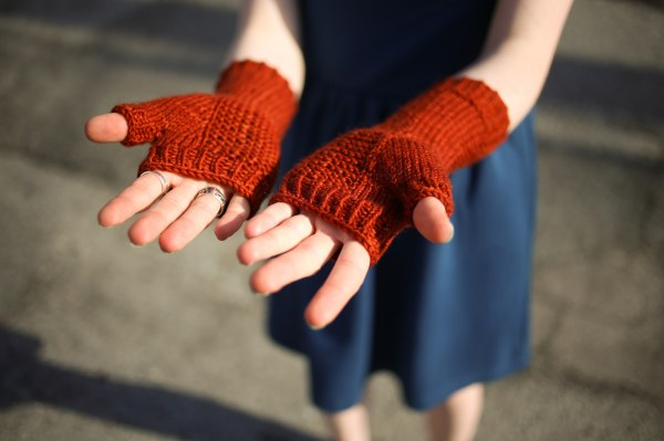Fingerless Gloves in Sweet Georgia Worsted