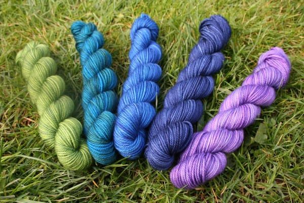 Party of Five Mini Skeins: A celebration of five different colours