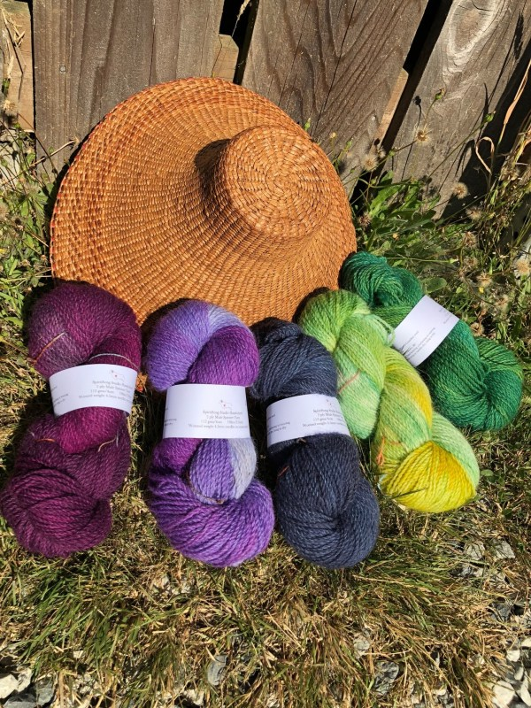 SpiritSong Studio Hand-dyed 3ply Mule Spinner Yarn sold at Baaad Anna's Yarn Store