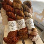 Darjeeling Sock L-R: Petty, Chai Spice, Moth Wings