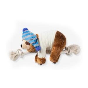 BAASJE - Fringe - luiaard - beanie - hondenspeelgoed - speelgoed - pluche