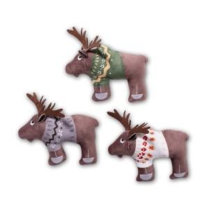 BAASJE - Fringe - set eland - hondenspeelgoed - speelgoed - pluche