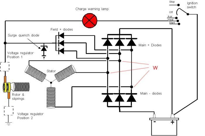 Wiring Diagram 6 Volt Generator To 12 Alternator