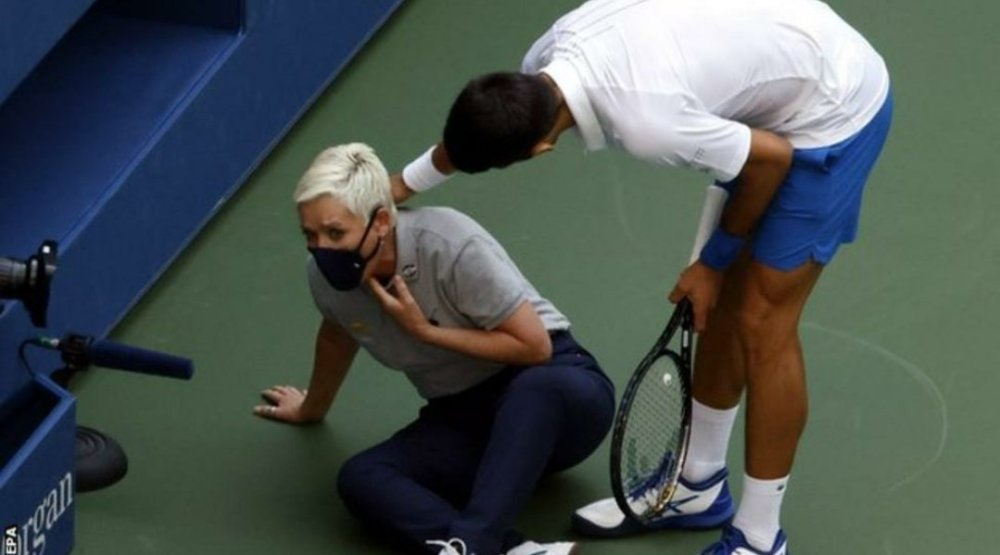 Novak Djokovic disqualified from US Open 2020 after hitting linewoman