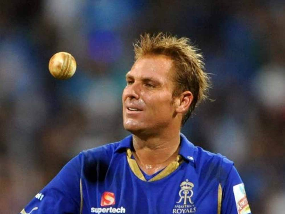 Shane Warne in Rajasthan Royals colors