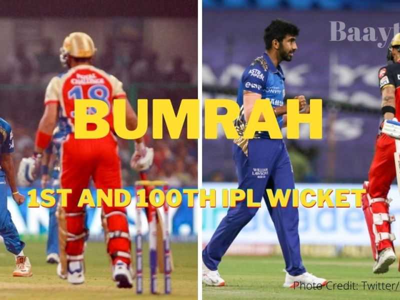 Bumrah first and 100th IPL wickets