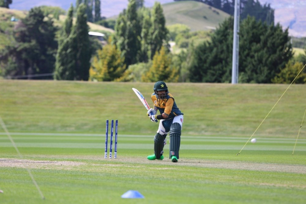 Babar Azam during training session in Queenstown, New Zealand