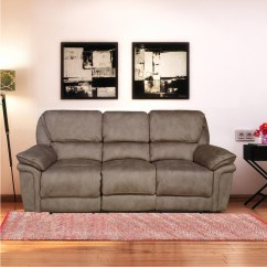Fuzzy Sofa Best Sofas Reviews Buy 3 Seater With 2 Electric Recliner Mocha Brown Online At Home