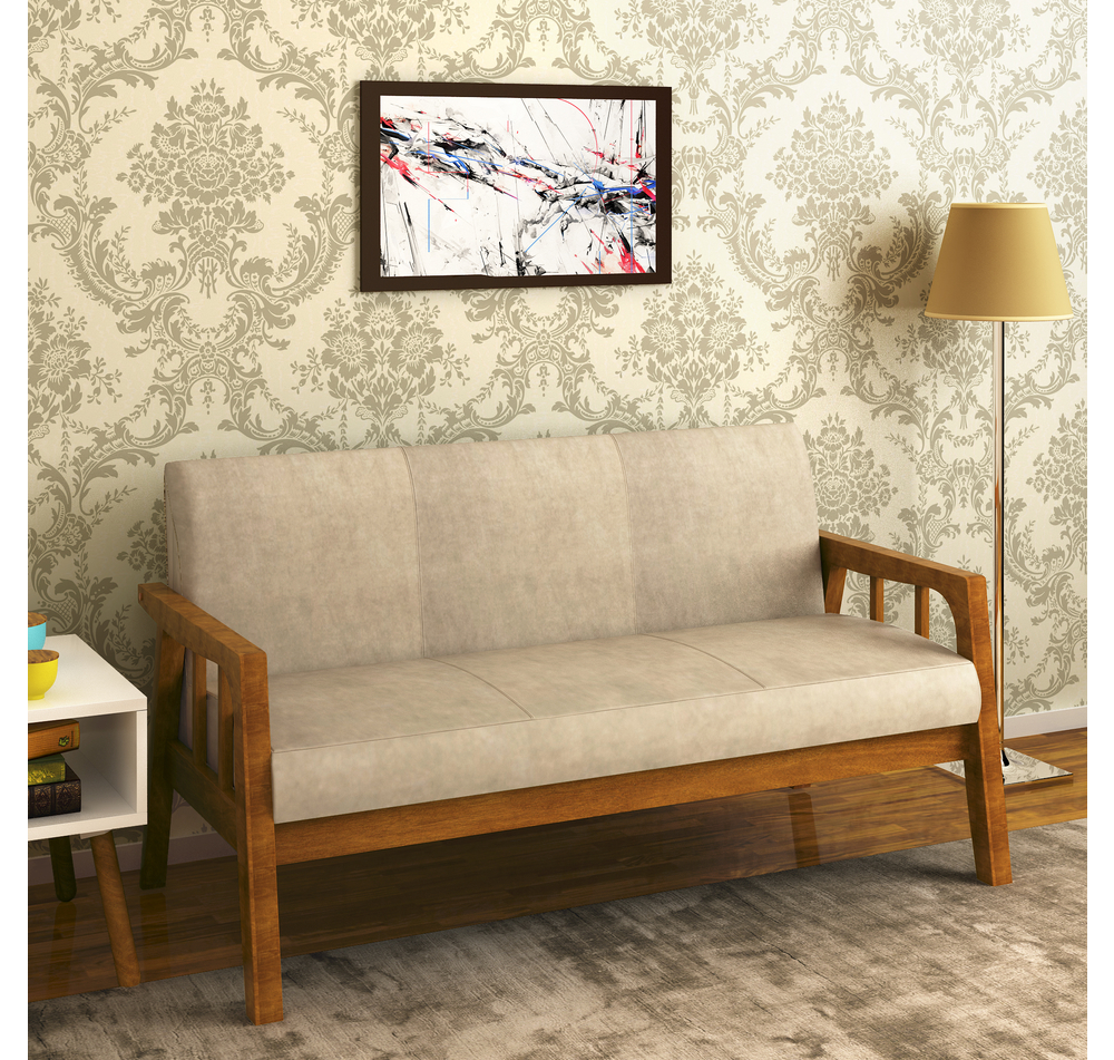 sofa frame shabby chic sleeper buy burke 3 seater coffee online at home