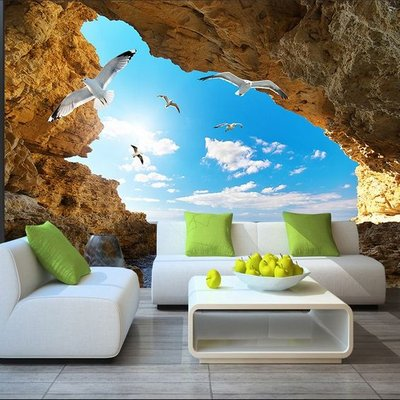 3d Wallpaper Bedroom Mural Modern Embossed Scenery Tv Background Wall B911 Ebay