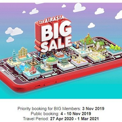 Airasia The Final Airasia Big Sale Of 2019 Is Live