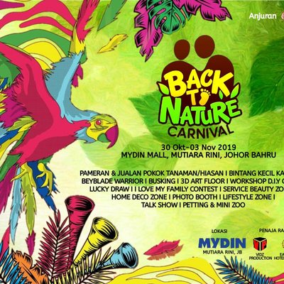 Back To Nature Carnival Mydin Mall Mutiara Rini 30 Oct 3 Nov 2019