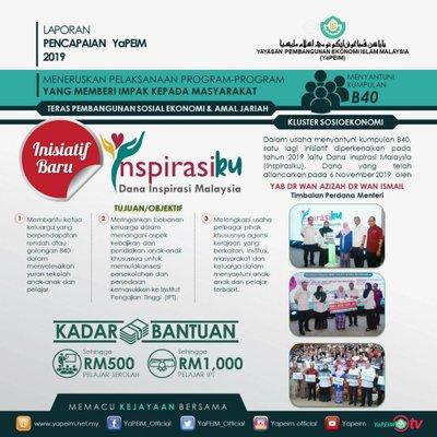Bantuan Pendidikan Dana Inspirasi Malaysia Untuk Keluarga B40 Daripada Yapeim