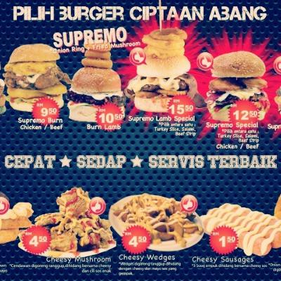 Burger Bakar Abang Burn Selayang