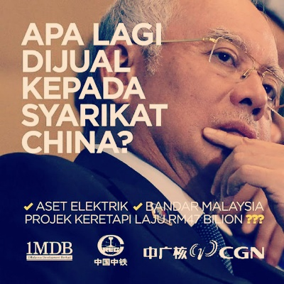 Image result for najib sold malaysia to china