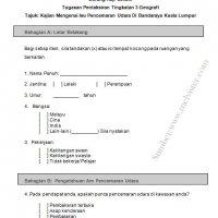 Contoh Borang Soal Selidik Geografi Pt3 2014