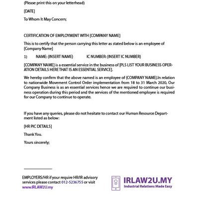 Contoh Surat Permohonan Kerja Dari Rumah Pkp