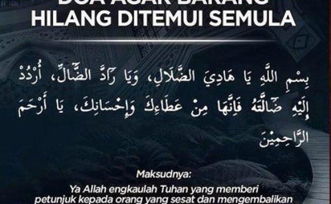 Doa Agar Mendapatkan Kembali Barang Yang Hilang Cute766