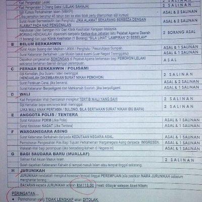 Dokumen Dan Prosedur Permohonan Perkahwinan Di Terengganu