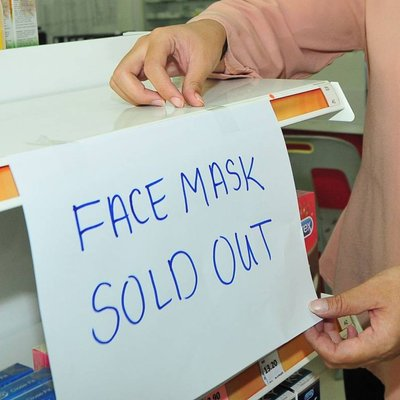 Face Masks Hand Sanitiser Sold Out In Kk