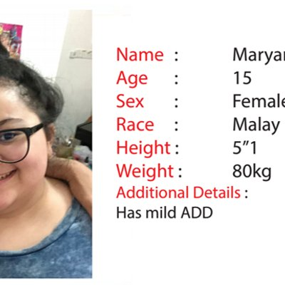 Family Seeks Public Help To Find Missing 15 Year Old Girl