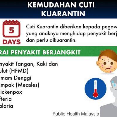 Info Kemudahan Cuti Kuarantin Bagi Denggi 5 Penyakit Lain Untuk Penjawat Awam