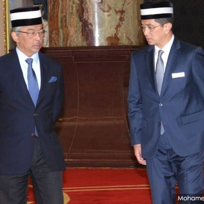 King Grants Audience To Azmin At Istana Negara
